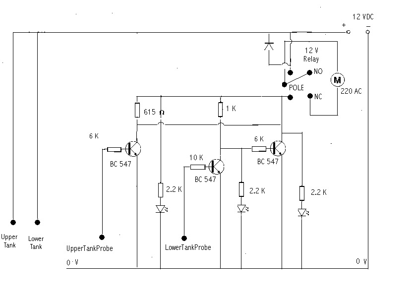 simple motor dry run circuit