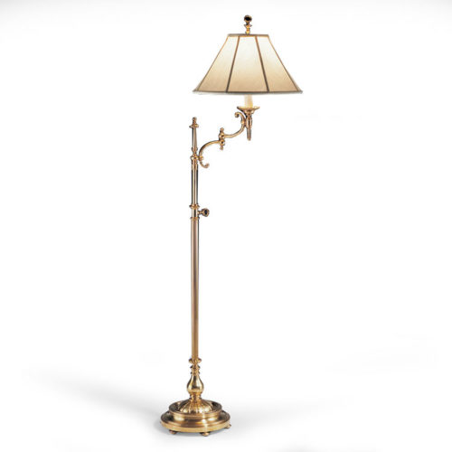Swing-arm Floor Lamp with Adjustable Height