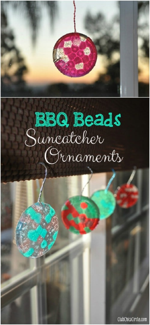 DIY Plastic Bead Suncatchers