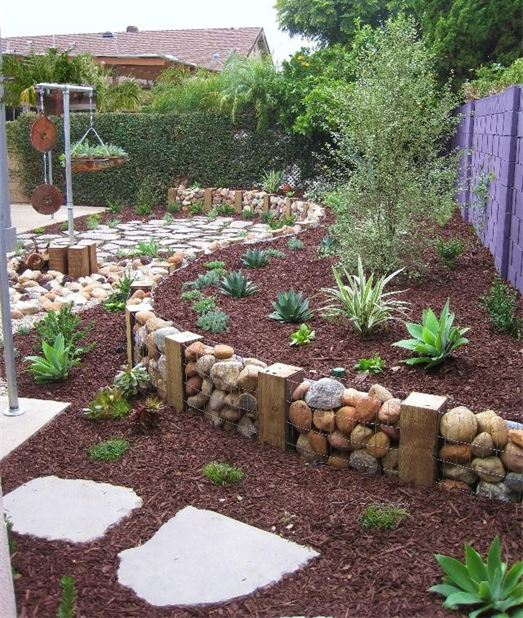 USE A GABION WALL