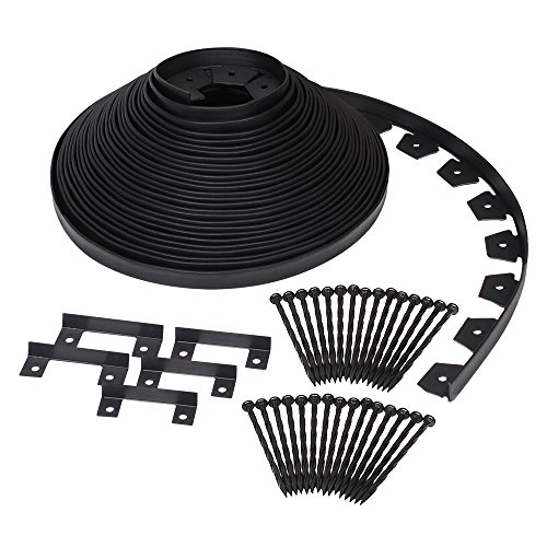 Dimex EasyFlex Plastic No-Dig Landscape Edging Kit, 100-Feet...