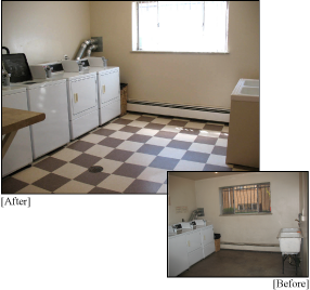 Apartment Building Renovations: Before and After Laundry
