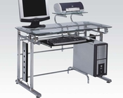 Acme Computer Desk in Silver Chrome Metal AC92040