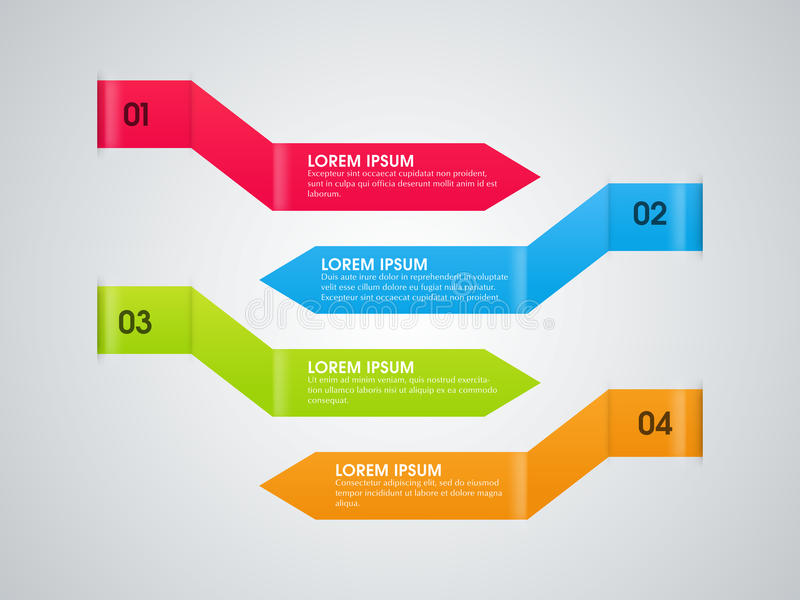 Colorful infographic arrows for Business. vector illustration