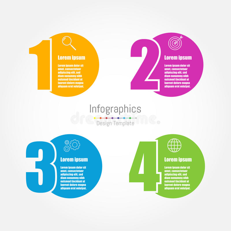 Infographic design template stock illustration