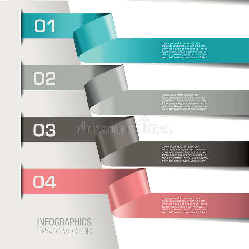 Numbered infographic banners stock illustration