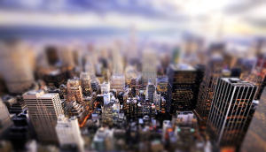 Toy city, Tilt-Shift effect online